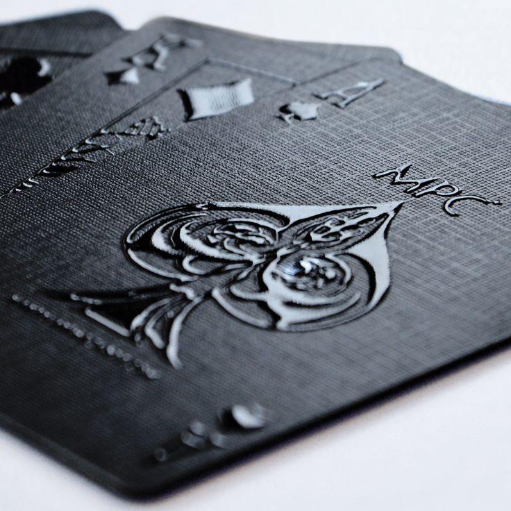 Impressions Playing Cards // Black Stealth + White Phantom
