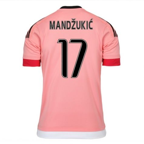 Juventus Jerseys 2015/16 Away Pink Soccer Shirt #17 Mandzukic