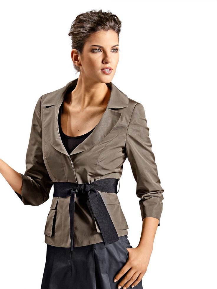 mode femme 2012 vestes blazer original a nouer kaki. Black Bedroom Furniture Sets. Home Design Ideas