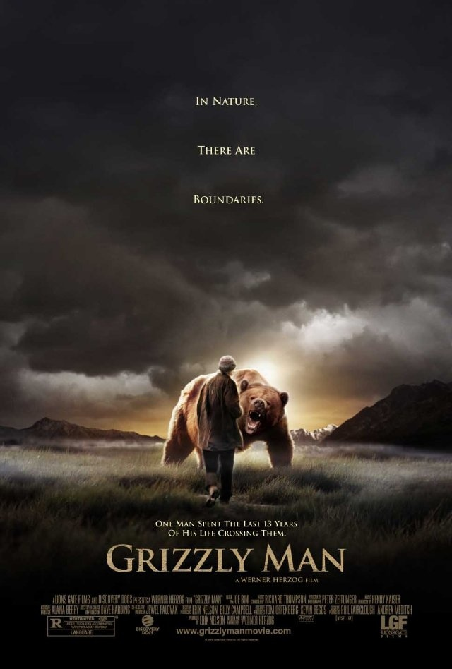 """Grizzly Man"" directed by Werner Herzog. A fascinating look at a peculiar man. Timothy Treadwell loved bears and his love took him closer than most anyone will ever get to this powerful mammals."