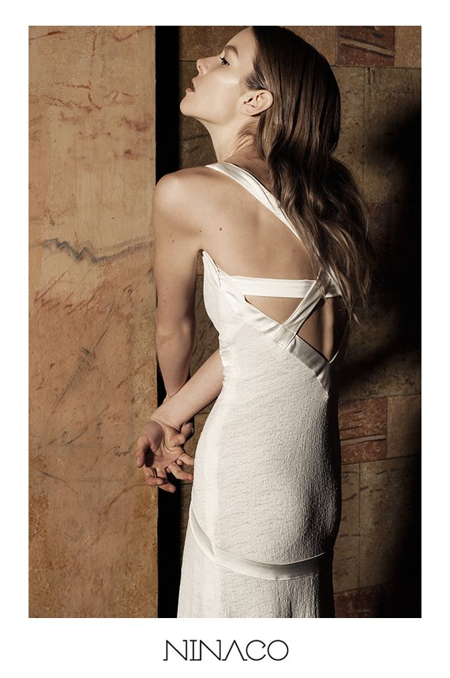 white long dress couture #ninaco #design #fashion