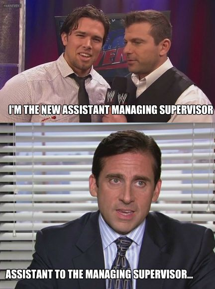Brad Maddox making an Office reference