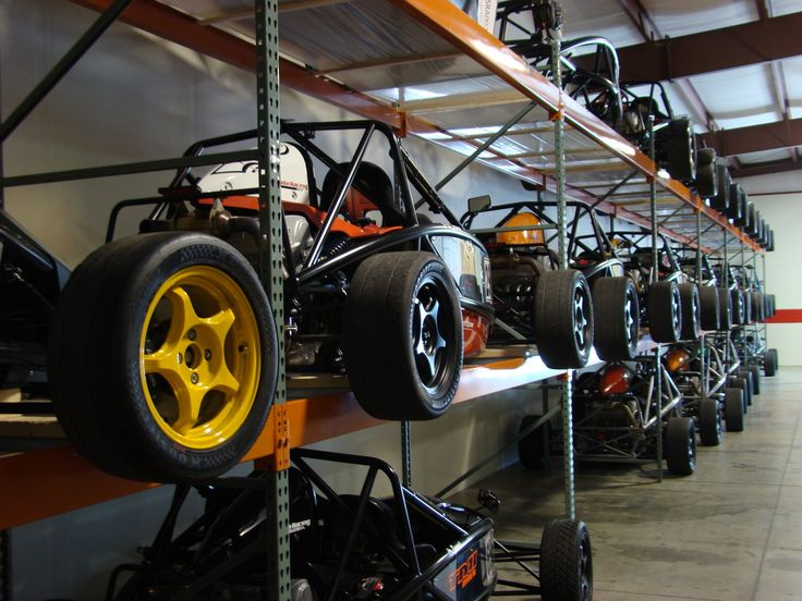 A number of Ariel Atom cars all ready to go - that's a lot of 5Zigen FN01-RC wheels - found on ArielAtom.com