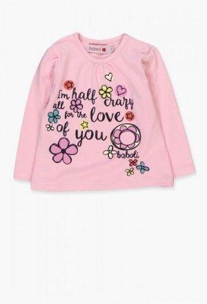 Camiseta punto elástico de bebé niña