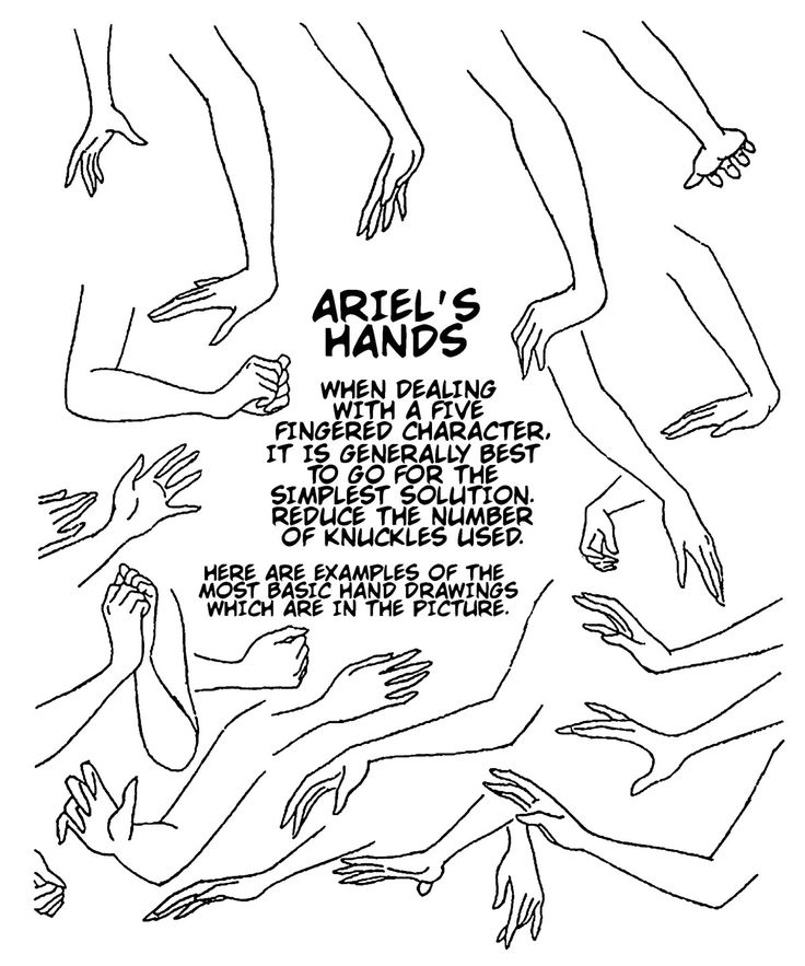 how to draw disney hands