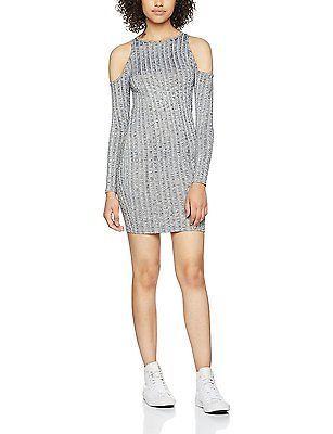 6, Grey, Miss Selfridge Petite Women's Cold Shoulder Dress NEW