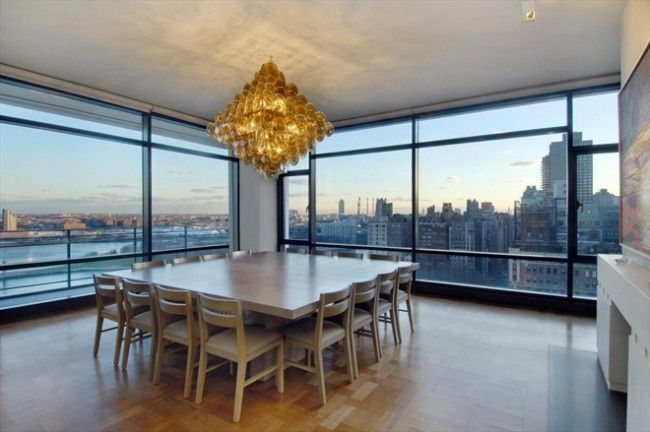 Dining room manhattan penthouse apartment with stunning for Penthouses manhattan for sale