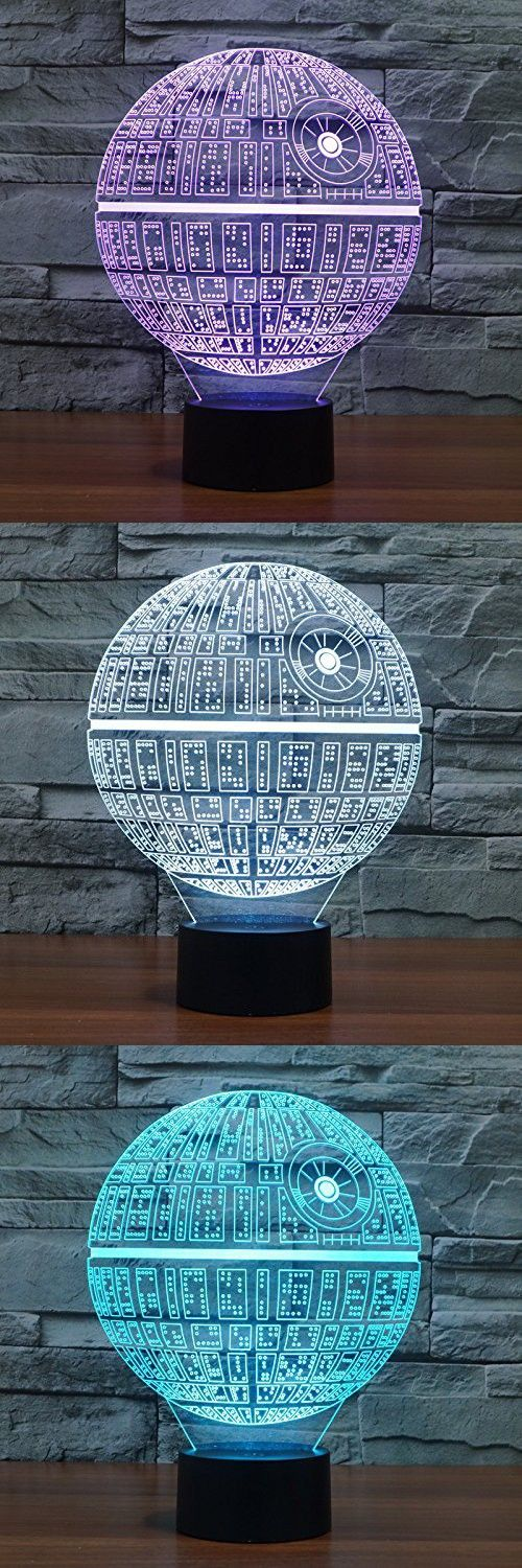 Bettelife 3D Night Lamp 7 Color Changing LED Desk Table Night Light for Home Decor Kids Bedroom (Death Star)