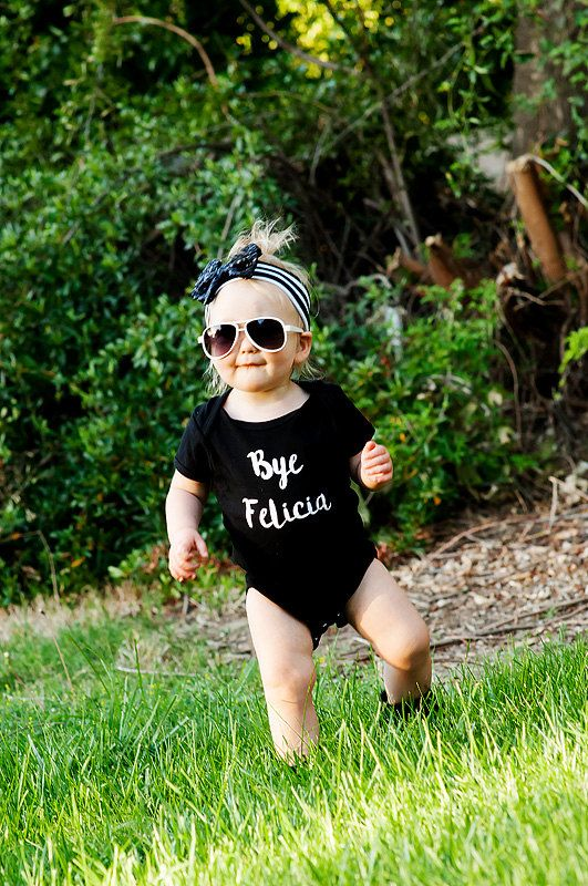 Bye Felicia - Cute Baby bodysuit - Funny bodysuit - Headband- Unique Baby shower gift- Unisex baby clothes- sassy baby- Toddler hipster