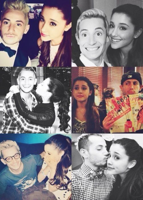 Ariana Grande and Frankie Grande, wish my brother was as awesome as hers <3