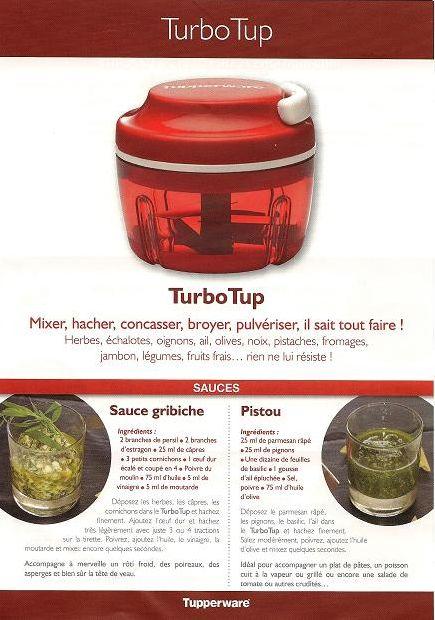Fiche recette Tupperware: Turbo Tup
