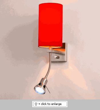 Arenal Red Chelsea Wall Sconce Light  Item# ArenalRedChelsea  Regular price: $300.00  Sale price: $255.00