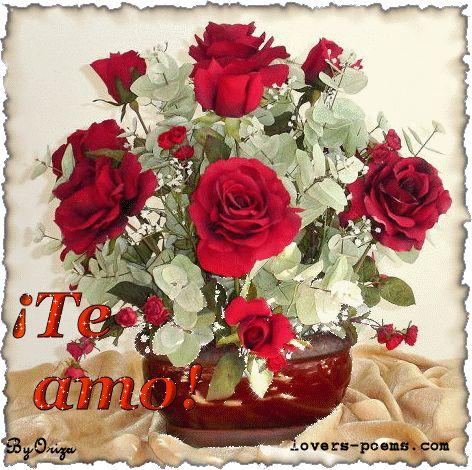Te Amo imagen #5082 - ¡Te amo! Tags: Animacion, Arreglo Floral, Rosas Rojas. Imágenes y fotos de 'Te Amo' con frases para facebook, whatsapp y twitter.