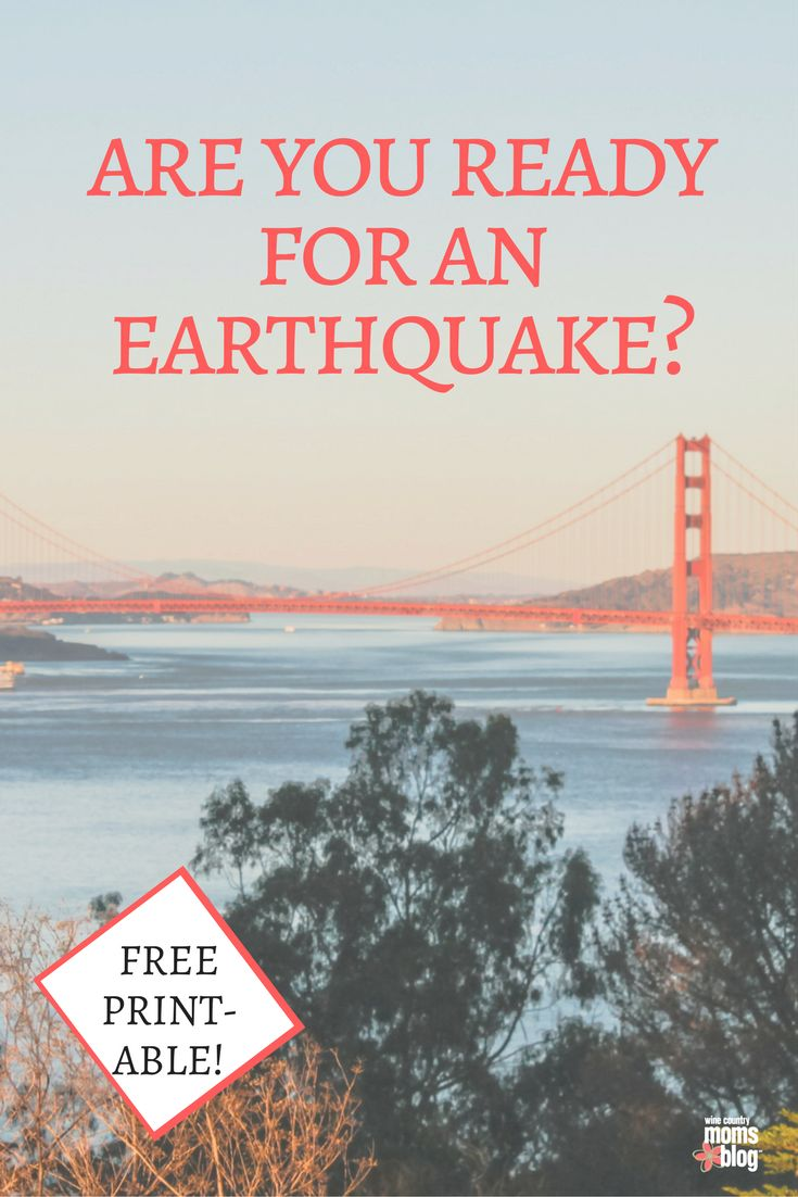 Hey California, This is Your Earthquake Warning {Prepare Now} http://winecountry.citymomsblog.com/family/earthquake-preparation-guide/ free earthquake printable getting ready for the big one | California | Earthquakes | Natural Disaster