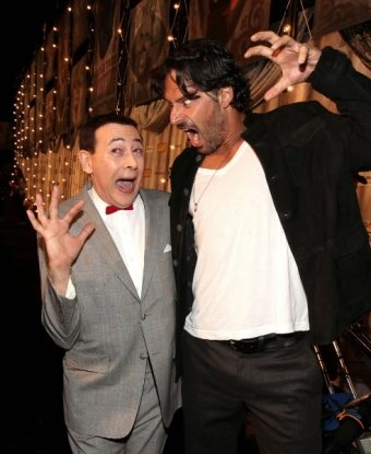 Pee-Wee Herman and Joe Maganiello at the True Blood premiere