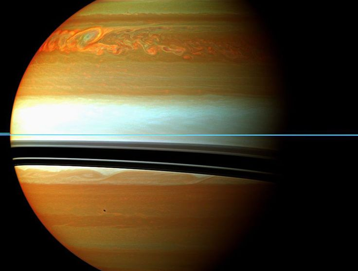 It is one of the largest and longest lived storms ever recorded in our Solar System. The above cloud formation in the northern hemisphere of Saturn started larger than the Earth and soon spread completely around the planet. The storm has been tracked not only from Earth but from up close by the robotic Cassini spacecraft currently orbiting Saturn. Pictured above in false colored infrared orange colors indicate clouds deep in the atmosphere, while light colors highlight clouds higher up.