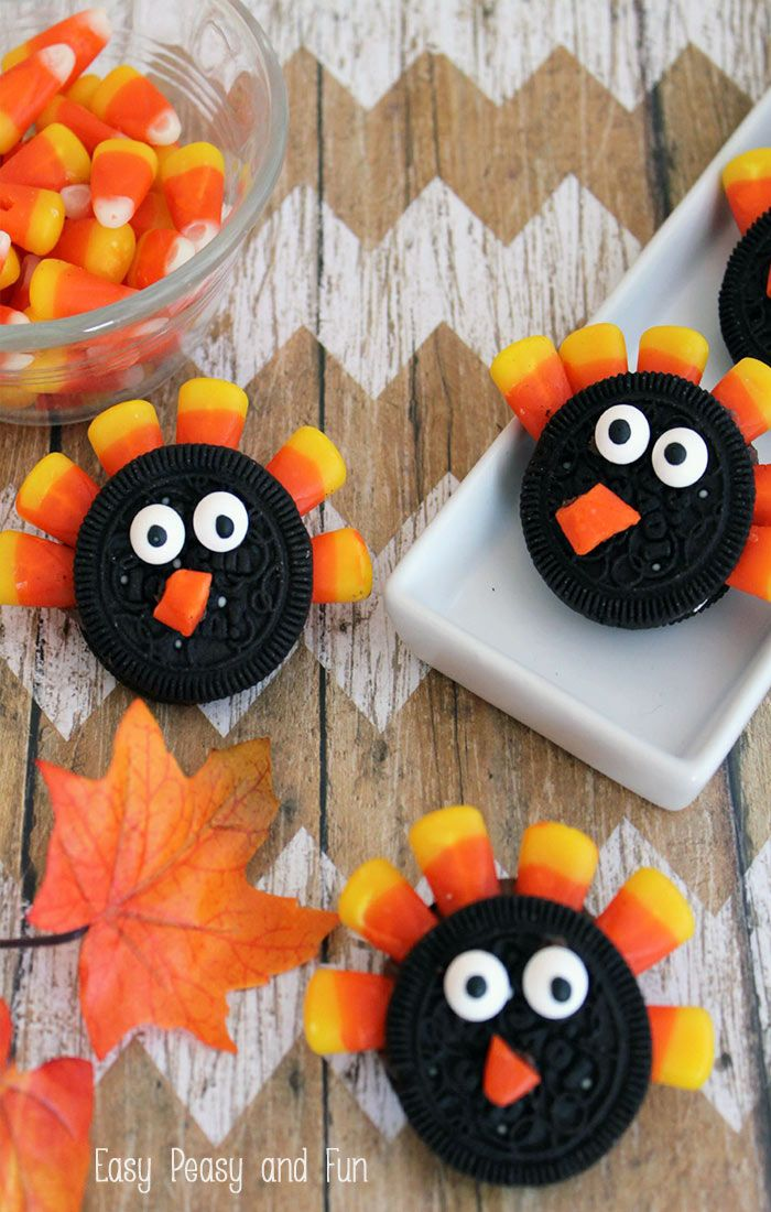 Simple Oreo Turkey Cookies - Easy Peasy and Fun