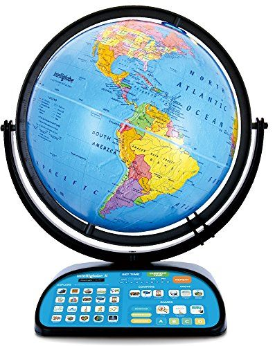 Intelliglobe II Advanced Interactive Talking Kids Globe with Wireless Intellipen and World Discovery Book by Replogle Globes