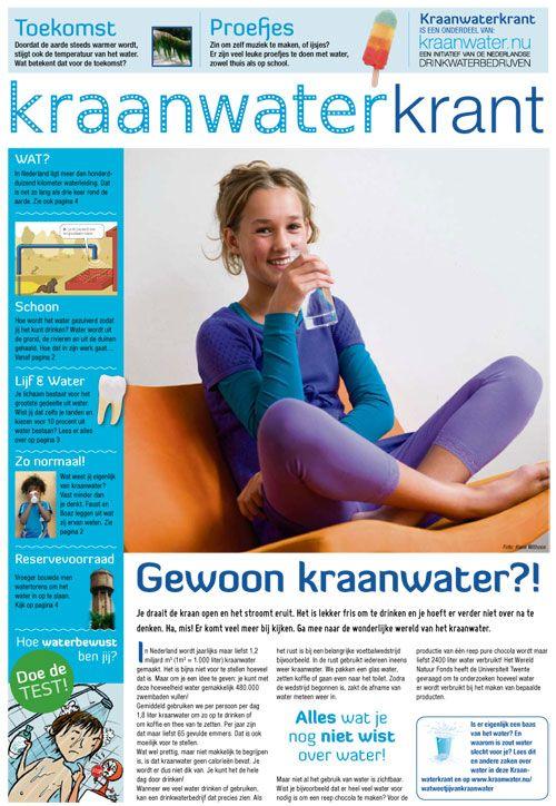 Download gratis de kraanwaterkrant met mooie schema's, prenten en artikels. Zeker bruikbaar voor 1ste graad B-stroom (MaVo)