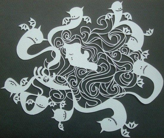 Papercut artwork from Tena Letica
