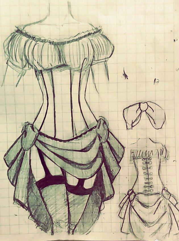 Ocio en clases. Intento de un vestido steampunk By Reila