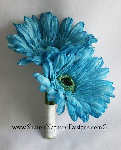 gerber daisy corsages   11205-Aqua-AppleGreen-GerberaDaisy-Amaryllis