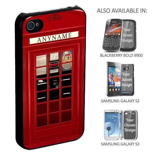 Personalised Telephone Box Phone Cover - yourgifthouse