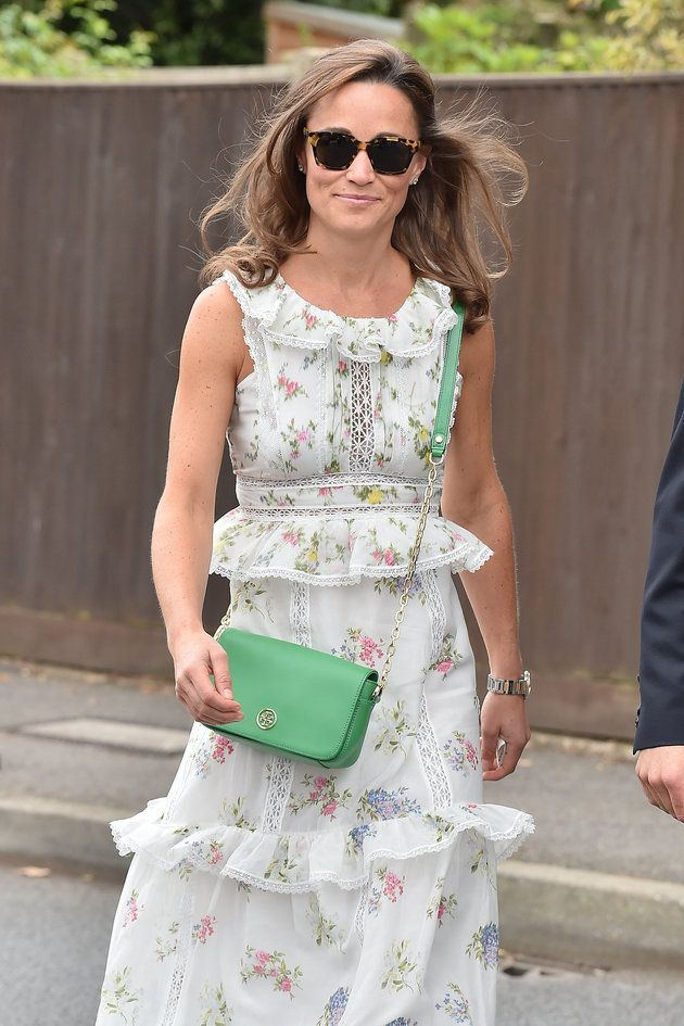 Pippa Middleton Looks Lovely In A Tiered Floral Dress For The Wimbledon Final   HuffPost UK