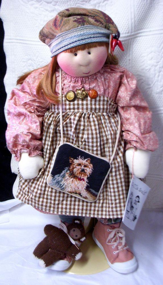 2002 LITTLE SOULS ~ REGINA~ w NEEDLEPOINT DOG PURSE & BABY BEAR Gretchen Wilson #LittleSouls