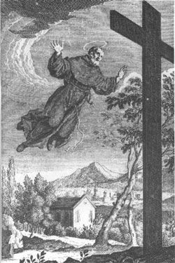 St. Joseph of Cupertino, Franciscan mystic and the patron saint of pilots and air passengers. Feastday, September 18