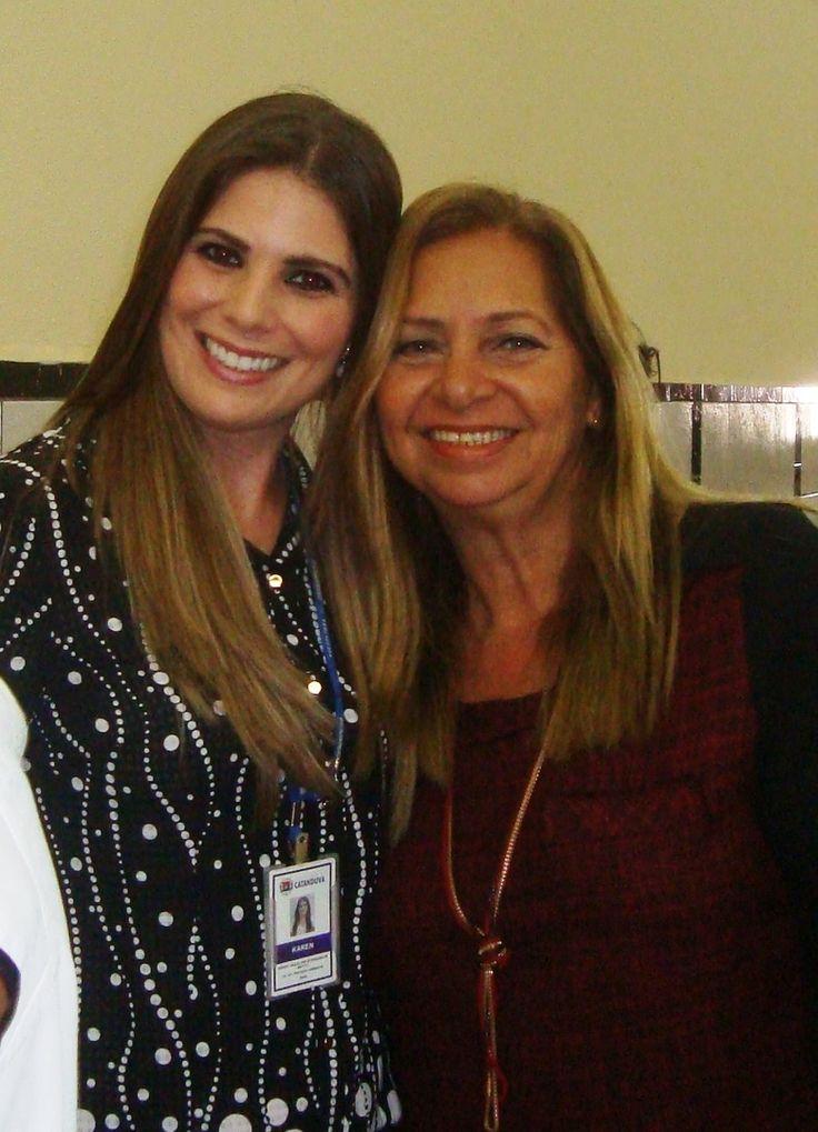 23/06/2015 com Karen Morandin De Britto em Catanduva, no I Simpósio- Desafios da Gestão de Resíduos Sólidos e suas Perspectivas no Estado de São Paulo.