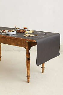Chalkboard Table Runner - great for the Christmas table (and parties!)
