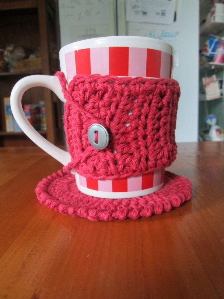 Free Crochet Pattern For Mug Rug : 17 Best images about Crochet-Cozies on Pinterest Sock ...