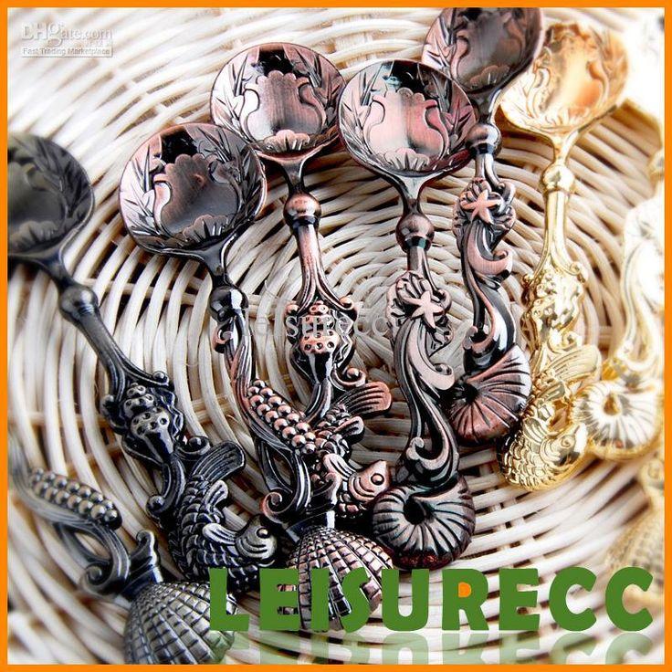 Посуда посуда цинковый сплав много 10.7 см 4 цвет ретро морской бутик серии кофе обеденный стол(China (Mainland))