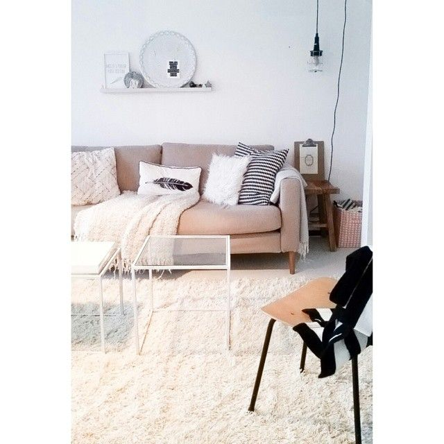 Our nordig living room. Bright, minimalistic and neutrals.
