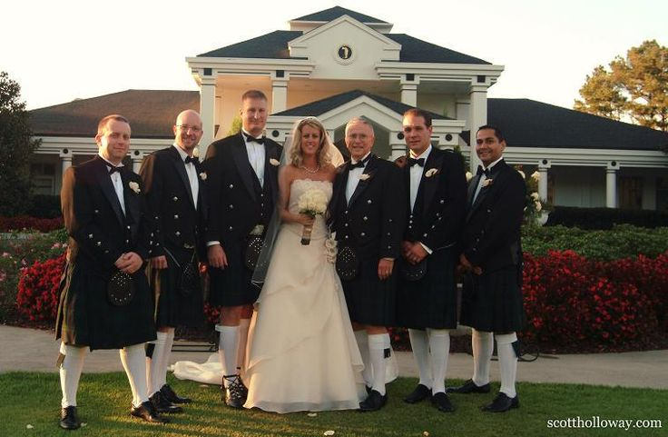 Men in...Kilts! :  Honor your heritage whatever it may be, find small ways to make your ceremony you..(you can hire a bagpiper if full-on Kilts makes your groomsmen squeamish..)
