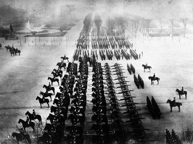 Franco-Prussian War German Victory Parade in Paris, 1871,