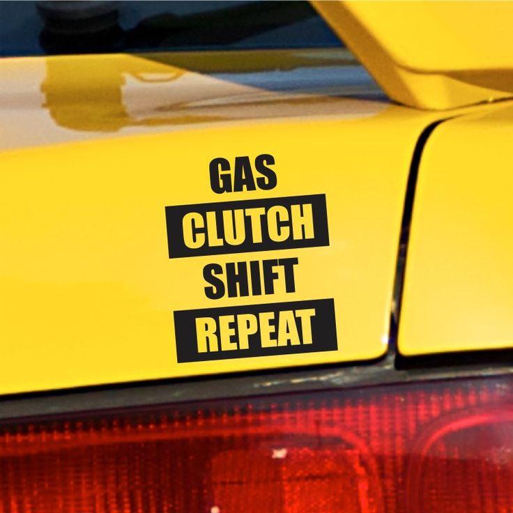 Gas Clutch Shift Repeat Bumper Sticker vinyl Decal Car Sticker For Honda Integra #3M