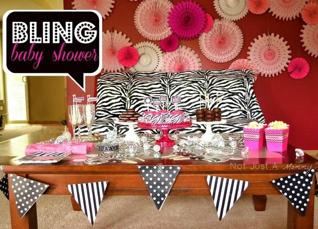 bling baby shower table