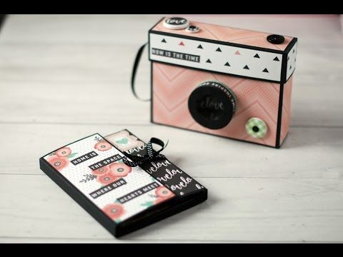 Tutorial mini álbum cámara de fotos - YouTube