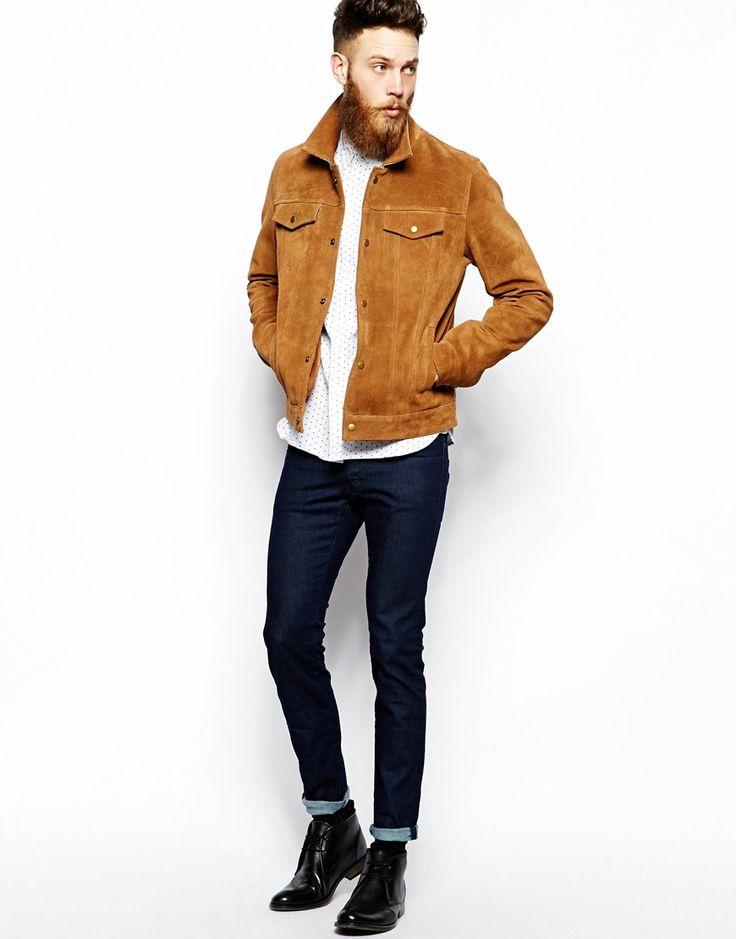 1000 id es propos de veste en daim homme sur pinterest - Comment nettoyer une veste en daim ...