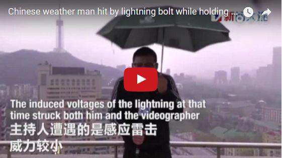 NGERI! Video Detik-detik Reporter Tersambar Petir Saat laporkan Dari Gedung Pencakar Langit Bikin Merinding! http://ift.tt/2qGSk7o
