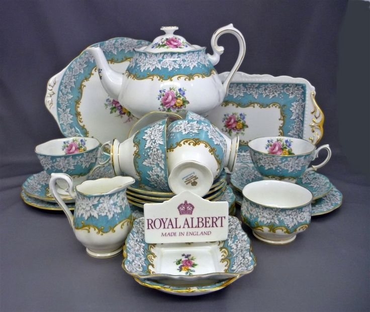 royal albert england enchantment bone china 25 piece tea set service for 6