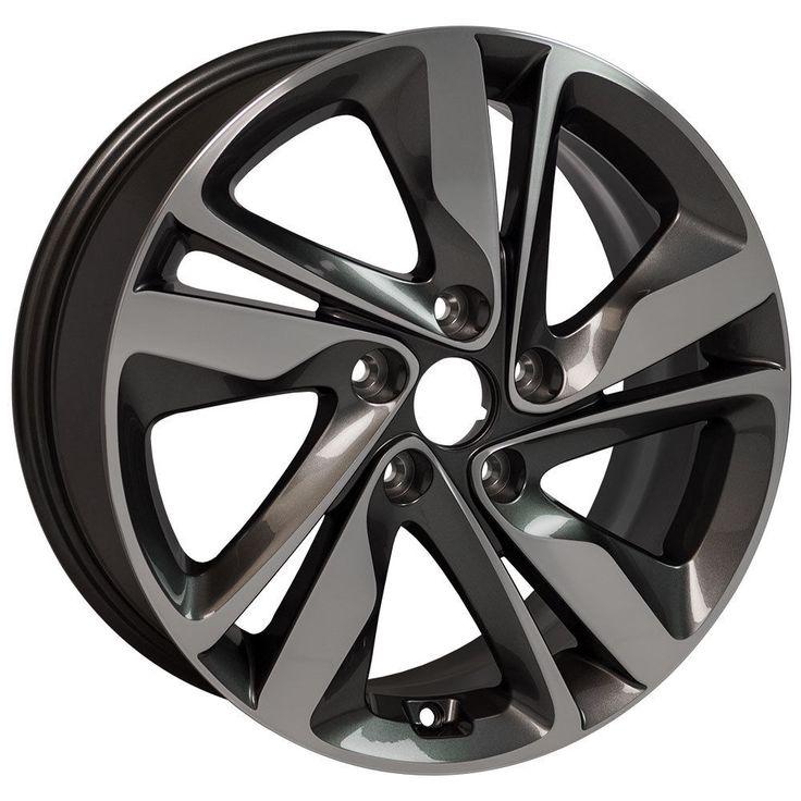 X4  Gunmetal Machined Rims fit Hyundai Elantra 17x7 BRAND NEW REPLICA WHEELS #Replica