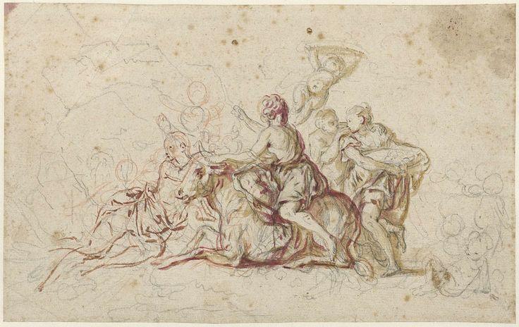 Europa ontvoerd door Jupiter in de gedaante van een stier (