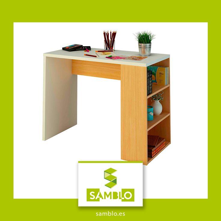 La mesa de estudio Midori es ideal para los estudiantes más exigentes, es fácil de montar y es reversible por lo que sirve para zurdos #zurdos #muebles #muebleskit ##habitacionesinfantiles #escritorio #mesa