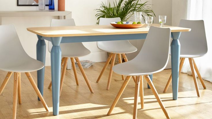 Plastic Dining Chair   PU Padded Seat   Wooden Legs   UK