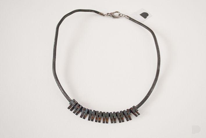 Przyznam się - zrobiłam to z samochodowej linki hamulcowej :) i z jeszcze jakiejś części :) I admit, i made that with car brake cable :) and one another car's part :) #PINKA #jewellery #jewelry #bizuteria #necklace #naszyjnik #handmade #fashion #modern