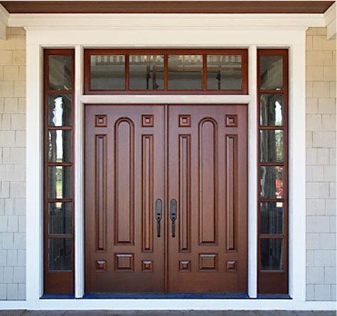 Front double wooden doors home decor pinterest for Double wood front doors