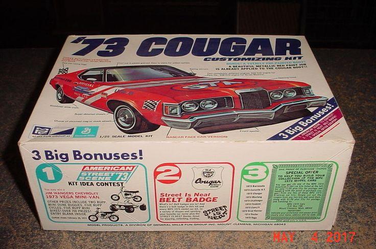 1973 Mercury Cougar 428 XR7 Daytona 500 Pace Car 1/25 MPC 1-7322 #MPC